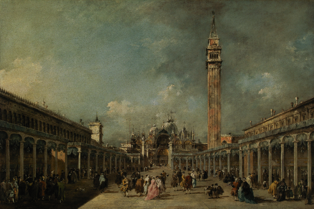 'Feast of the Ascension in St Mark's Square' - Francesco Guardi, 1775 - Calouste Gulbenkian Museum,  Lisboa, Portugal